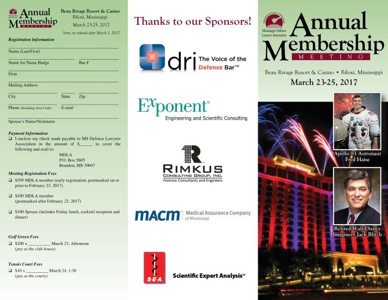 MDLA 2017 Annual Meeting Registration